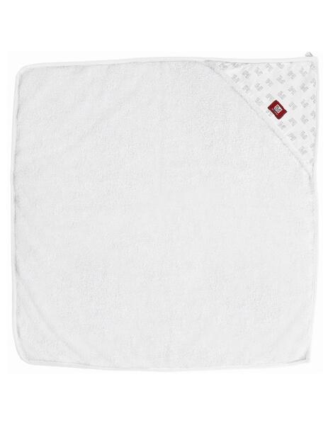 Рушник з капюшоном 1м х 1м - білий/принт, 0304167