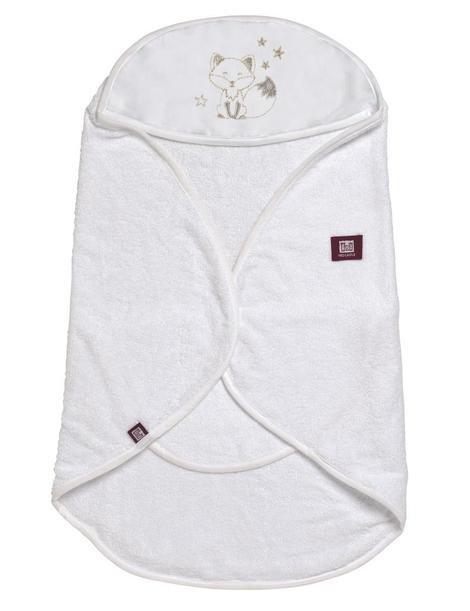 Рушник-конверт для ванної Babynomade - білий/ 0-6 міс, 0836166