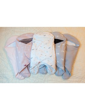 Конверт Babynomade з подвійного флісу - голубий/ 0-6 міс.